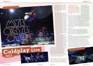 Coldplay Live Coldplay Live By Camera Supervisor Nat Hill