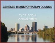 2010-2011 Annual Report - Genesee Transportation Council