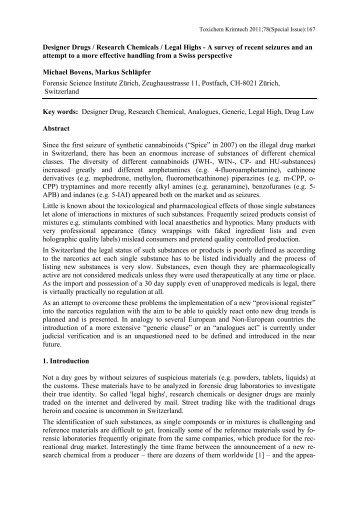 Designer drugs / Research chemicals / Legal Highs - GTFCh