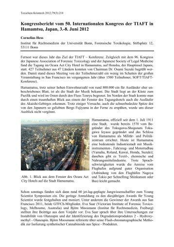 Kongressbericht vom 50. Internationalen Kongress der ... - GTFCh