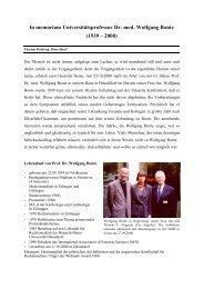 In memoriam Universitätsprofessor Dr. med. Wolfgang Bonte - GTFCh