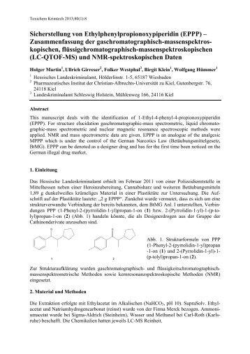Sicherstellung von Ethylphenylpropionoxypiperidin (EPPP ... - GTFCh
