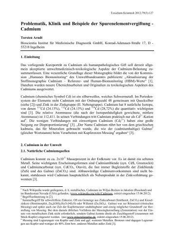 Problematik, Klinik und Beispiele der ... - GTFCh