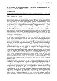 Bericht über die 110. Vorstandssitzung am 01. April 2009 in ... - GTFCh