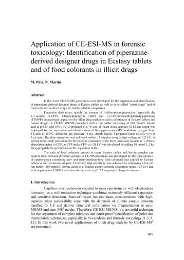 Application of CE-ESI-MS in forensic toxicology ... - GTFCh