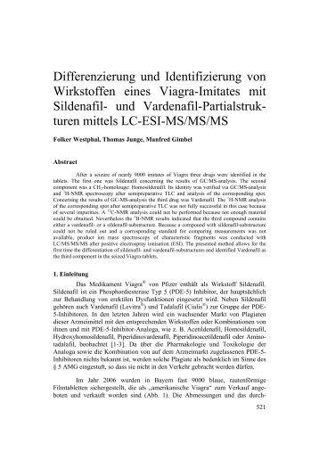 Differenzierung und Identifizierung von Wirkstoffen eines ... - GTFCh