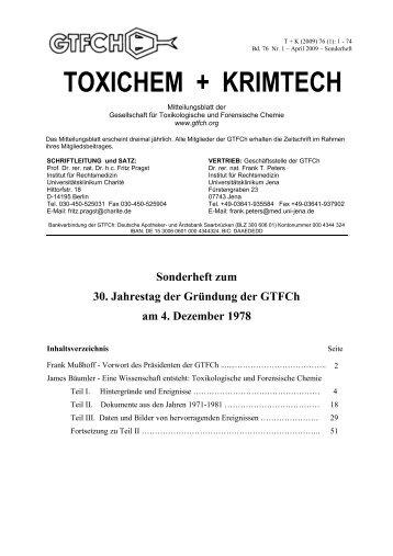 TOXICHEM + KRIMTECH - GTFCh