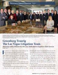 Greenberg Traurig The Las Vegas Litigation Team