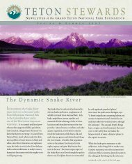 TETON STEWARDS - Grand Teton National Park Foundation