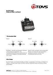 Der G51 Sender Der G51 Sender Umbau von Mode 1 auf ... - GTOYS