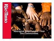 Aboriginal Employment ? Iron Ore Communities