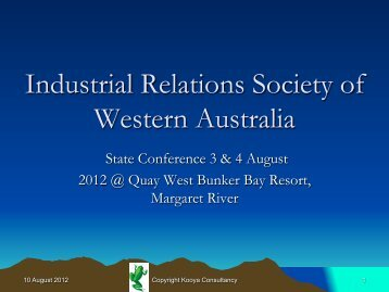Industrial Relations Society of Western Australia