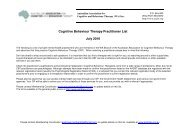 Cognitive Behaviour Therapy Practitioner List July 2010
