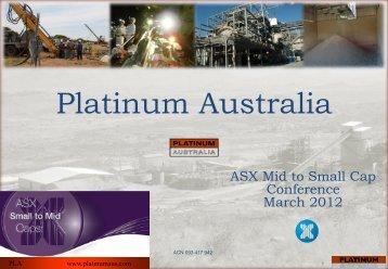 Platinum Australia