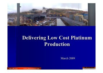 Delivering Low Cost Platinum Production