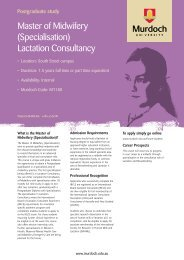 Master of Midwifery (Specialisation) Lactation Consultancy - The ...