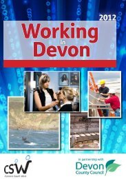 Working In Devon is available here - Careers South West
