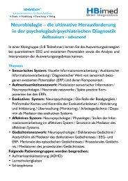QEEG Fortgeschrittenkurs 2011 - Gehirn und Trauma Stiftung