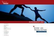 Jahresbericht 2007 - Gehirn und Trauma Stiftung