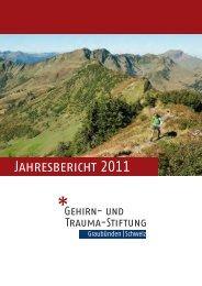 Jahresbericht 2011 - Gehirn und Trauma Stiftung