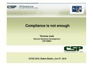 Compliance is not enough - Thomas Leeb - Gtug.de