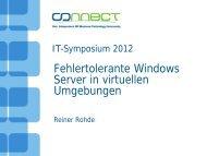 Fehlertolerante Windows Server in virtuellen Umgebungen