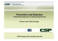 Leeb, Thomas & Grainger, Peter - CSP Security.com - Gtug.de
