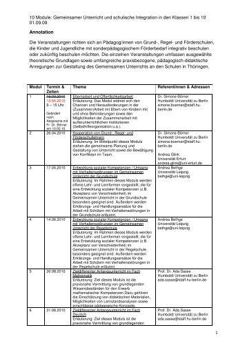 10 Module - Thüringer Forschungs-und Arbeitsstelle für ...