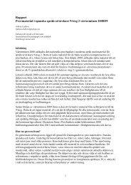 Rapport om provmaterialet i spanska steg 3 vårterminen 2007