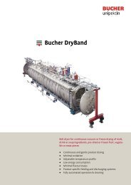 Belt dryer for continuous vacuum or freeze drying - Bucher Unipektin ...