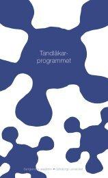 Tandläkar- programmet - Göteborgs universitet