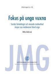 Fokus på unga vuxna - Göteborgs universitet