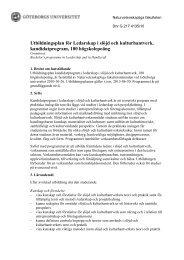 Utbildningsplan för Ledarskap i slöjd och kulturhantverk ...