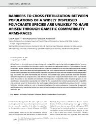 barriers to cross-fertilization between populations of a widely ...