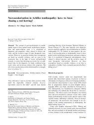 Neovascularization in Achilles tendinopathy: have we been chasing ...