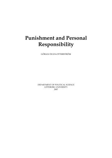 Punishment and Personal Responsibility
