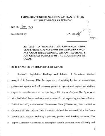 Bill No. 60 (EC) - Guam Legislature