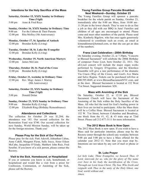 Sunday, October 16, 2011 - Guardian Angel Church