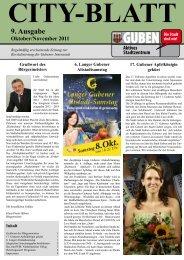 9. Ausgabe Oktober/November 2011 - Guben