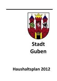 Haushaltsplan 2012 - Guben