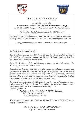 Ausschreibung - DSV
