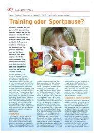 Sport und Atemwegsinfekt