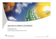 Spaceborne GNSS at DLR/GSOC - Space Geodesy Programme