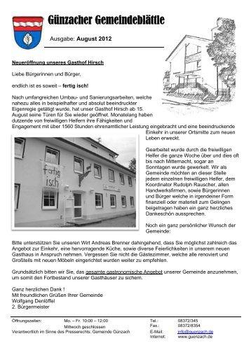 Ausgabe August 2012 - Günzach