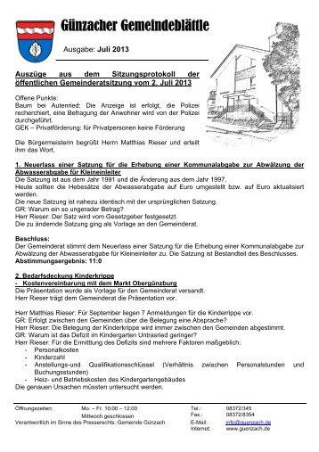 Ausgabe Juli 2013 - Günzach