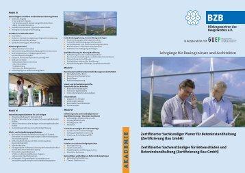 Zertifizierter Sachkundiger Planer für Betoninstandhaltung - GUEP