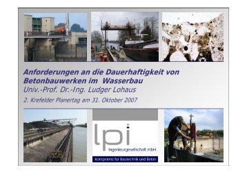 Anforderungen an die Dauerhaftigkeit von Betonbauwerken ... - GUEP