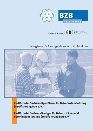 Zertifizierter Sachkundiger Planer für Betoninstandsetzung - GUEP
