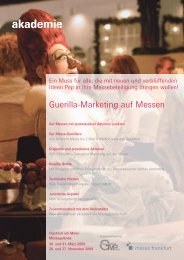 Guerilla-Marketing auf Messen - Guerilla-Marketing-Portal