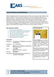 Intensiv-Seminar Guerilla Marketing - Guerilla-Marketing-Portal